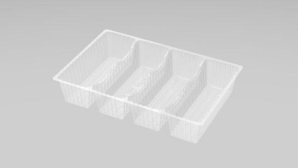 DMD 98 - 4 Cavity Deep Éclair Tray