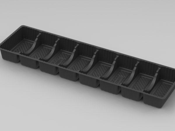 11039 - 8 Cavity Finger Tray - Black