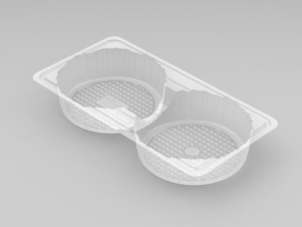 11107 - 2 Cavity Large Pie Tray