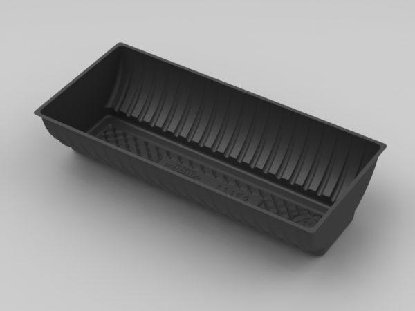 11159 - Half Round Biscuit - Black