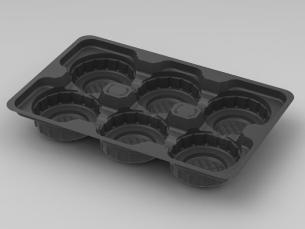 11249 - 6 Cavity Mince Pie - Black