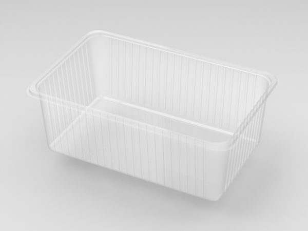 11214 - De-nested Rectangular Plain Biscuit Tray