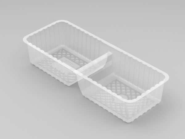 11292 - 2 Cavity Long Biscuit Tray